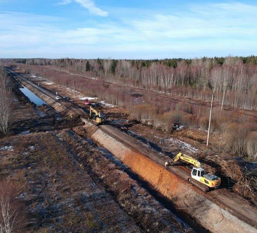 Riispere-Turba rautatien rakentaminen